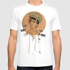 The Steam Captain  White Mens Fitted Tee SMALL