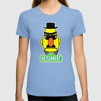HeisenBert Womens Fitted Tee Tri-Blue SMALL