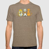 Cat Trio Mens Fitted Tee Tri-Coffee SMALL