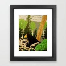 Bear in lava Framed Art Print