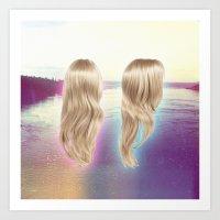 Deception Pass Hair Art Print