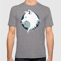 Boy Cries Wolf (White) Mens Fitted Tee Tri-Grey SMALL