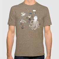 Sea Breeze Mens Fitted Tee Tri-Coffee SMALL