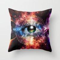 Quantum space Throw Pillow
