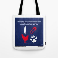 No145 My Hangover PART 1 minimal movie poster Tote Bag