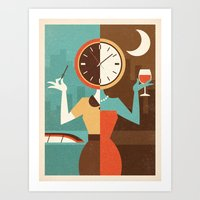 Wine Time Art Print