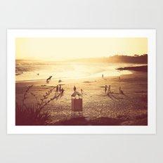 La Barra Sunset Art Print