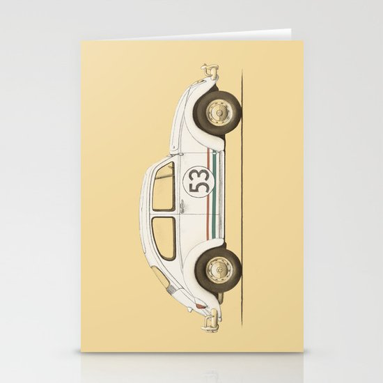 Famous Car #4 - VW Beetle Stationery Card