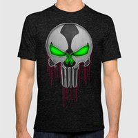Punisher Spawn Mash-Up Mens Fitted Tee Tri-Black SMALL