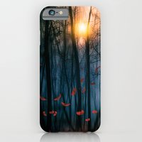 feather iPhone & iPod Cases featuring Red feather dance  (colour option) by Viviana Gonzalez