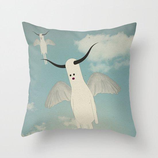 b u l b o s + w i n g s Throw Pillow
