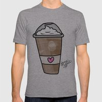 frappe Mens Fitted Tee Athletic Grey SMALL