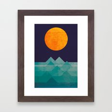 The ocean, the sea, the wave - night scene Framed Art Print