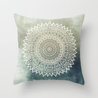AUTUMN LEAVES MANDALA Throw Pillow