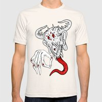 devil Mens Fitted Tee Natural SMALL