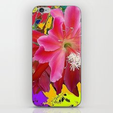 Fuchsia Pink Orchid Cacti Flower iPhone & iPod Skin