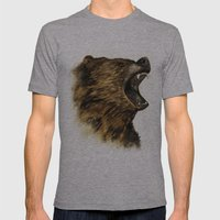 The Grizzly Mens Fitted Tee Athletic Grey SMALL