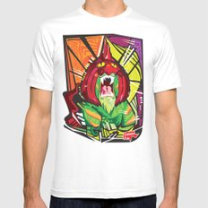 Nalubuff - Battlecat White Mens Fitted Tee SMALL
