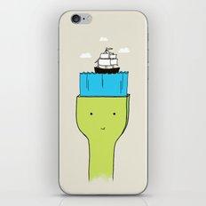 Brush With Blue Sea iPhone & iPod Skin