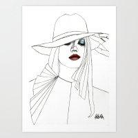 Blue Eyeshadow Art Print