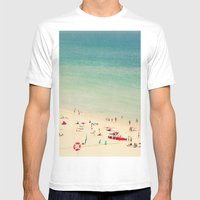 Beach  Mens Fitted Tee White SMALL