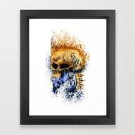 Golden Skull Framed Art Print