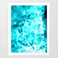 turquoise Art Prints featuring Turquoise by 2sweet4words Designs