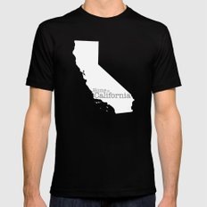 Home is California Mens Fitted Tee SMALL Black