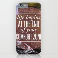 iPhone & iPod Case featuring The End Of Your Comfort Zone by Chris Klemens