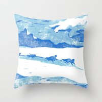 Iditarod Throw Pillow