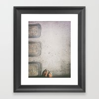 Three Water Sewers Framed Art Print
