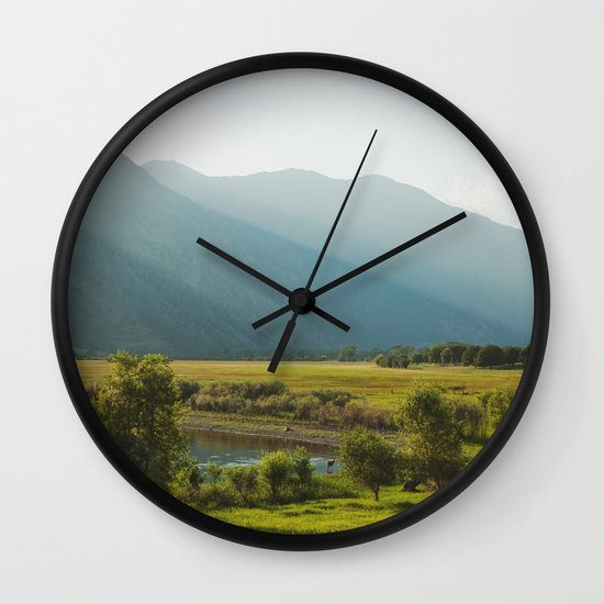 Wading Deer Wall Clock