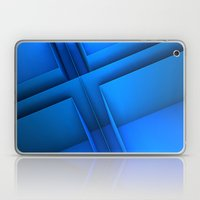 Clean Lines (Blue) Laptop & iPad Skin
