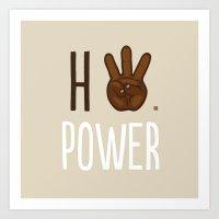 HiiiPower (w/text) : Chocolate Art Print