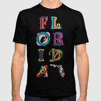 Florida Mens Fitted Tee Black SMALL