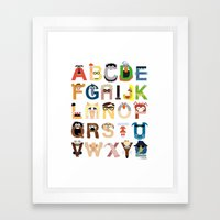 Muppet Alphabet Framed Art Print