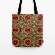 Floral Mandala-style, Po… Tote Bag