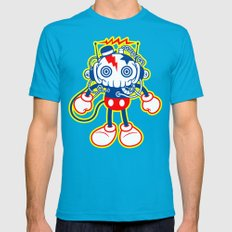 skull bolt Mens Fitted Tee Teal SMALL