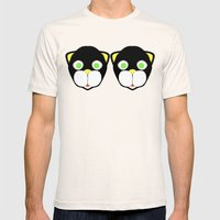 Double Cat Head Mens Fitted Tee Natural SMALL