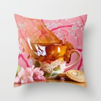 Coffee Anyone?! Throw Pillow