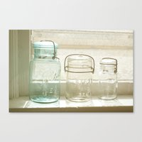 Jars Of The Past Canvas Print