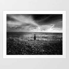 at sea Art Print