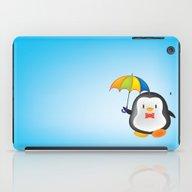 Umbrella Penguin iPad Case