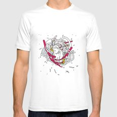 Anatomy Party Mens Fitted Tee SMALL White