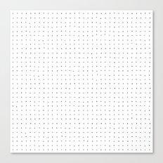 Swiss Dot - White Canvas Print