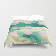 Clouds + Dots Duvet Cover