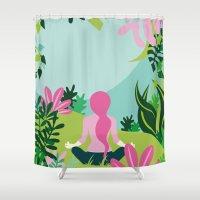 Yoga Garden Shower Curtain