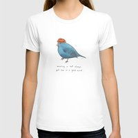 wearing a hat always put him in a good mood Womens Fitted Tee White SMALL