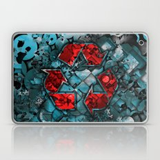 Recycle World - Blue Laptop & iPad Skin