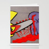 killer pacman Stationery Cards